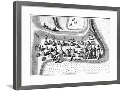 Settlement in Russian Lapland, 1594-Jan Huygen Von Linschoten-Framed Giclee Print