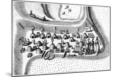 Settlement in Russian Lapland, 1594-Jan Huygen Von Linschoten-Mounted Giclee Print