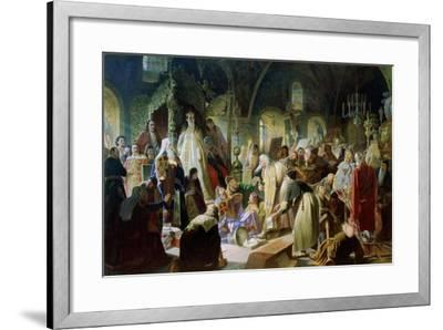 Old Believer Priest Nikita Pustosviat. Dispute on the Confession of Faith, 1880-1881-Vasili Grigoryevich Perov-Framed Giclee Print