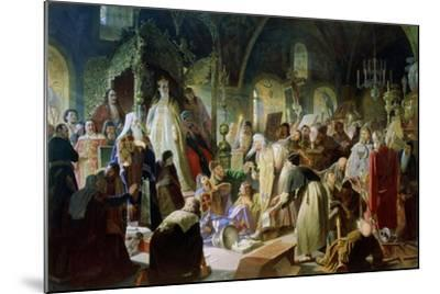Old Believer Priest Nikita Pustosviat. Dispute on the Confession of Faith, 1880-1881-Vasili Grigoryevich Perov-Mounted Giclee Print