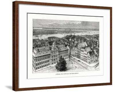 Town Hall and River Schelde, Antwerp, Belgium, 1879-Taylor-Framed Giclee Print