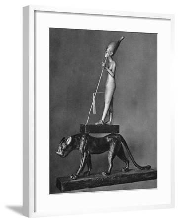 King Tutankhamen (C1341 Bc-C1323 B) on a Black Leopard, 1936--Framed Giclee Print