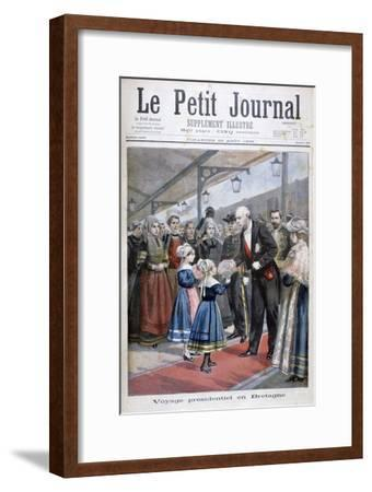 The President of the French Republic Visiting Brittany, 1896--Framed Giclee Print