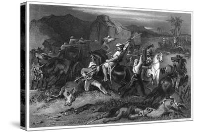 Night Sortie and Attack on Baggage Waggons, 1857--Stretched Canvas Print