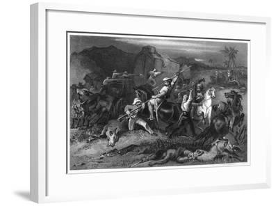 Night Sortie and Attack on Baggage Waggons, 1857--Framed Giclee Print