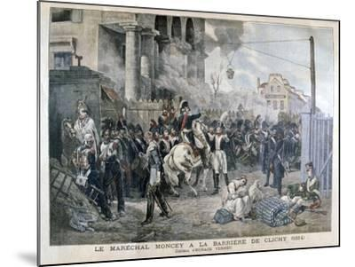 The Gate at Clichy During the Defence of Paris, 30th March 1814-Horace Vernet-Mounted Giclee Print