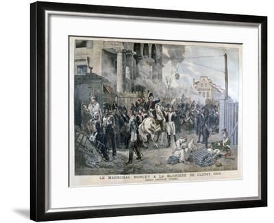 The Gate at Clichy During the Defence of Paris, 30th March 1814-Horace Vernet-Framed Giclee Print