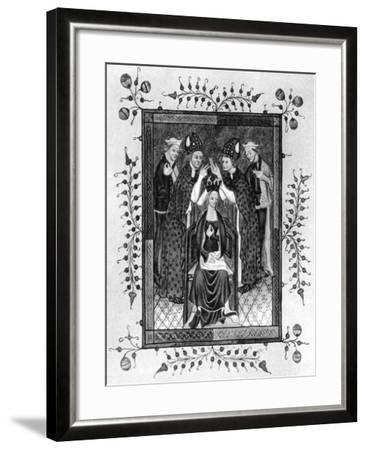 The Crowning of a Queen, Late 14th Century--Framed Giclee Print