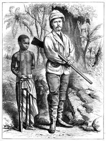 Henry Morton Stanley (1841-190), Welsh Journalist and Explorer, 19th Century--Framed Giclee Print