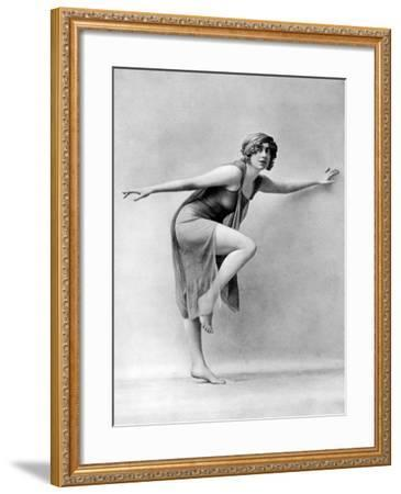 Barefooted Dancing after the Greek Style, 19th Century--Framed Giclee Print