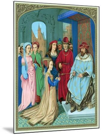 King Solomon Welcoming the Queen of Sheba-Hans Memling-Mounted Giclee Print