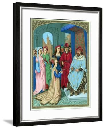 King Solomon Welcoming the Queen of Sheba-Hans Memling-Framed Giclee Print