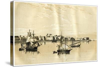 Zanzibar from the Sea, 1883--Stretched Canvas Print