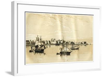 Zanzibar from the Sea, 1883--Framed Giclee Print
