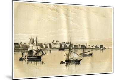 Zanzibar from the Sea, 1883--Mounted Giclee Print