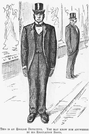 This Is an English Detective, 1888--Stretched Canvas Print