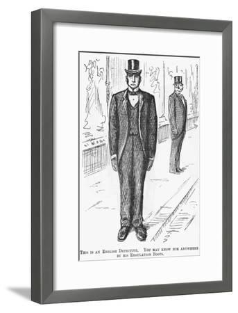 This Is an English Detective, 1888--Framed Giclee Print
