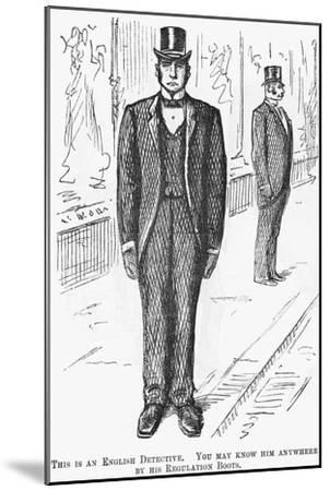 This Is an English Detective, 1888--Mounted Giclee Print