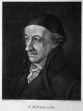 Portrait of the Poet and Writer Christoph Martin Wieland (1733-181), 19th Century-Moritz Steinla-Framed Giclee Print