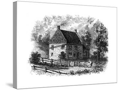 Old Dutch House, Long Island, New York, 18th Century--Stretched Canvas Print