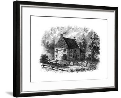 Old Dutch House, Long Island, New York, 18th Century--Framed Giclee Print