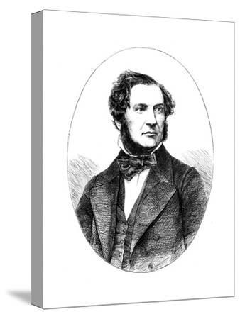 William Ewart Gladstone, British Liberal Statesman and Prime Minister, 1855--Stretched Canvas Print
