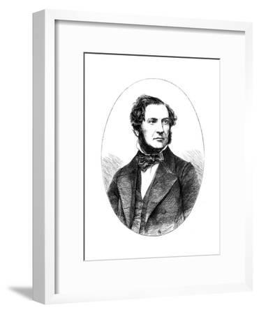William Ewart Gladstone, British Liberal Statesman and Prime Minister, 1855--Framed Giclee Print