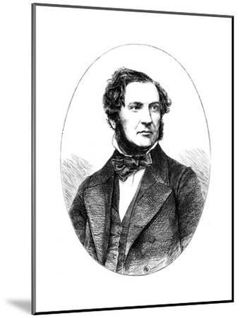 William Ewart Gladstone, British Liberal Statesman and Prime Minister, 1855--Mounted Giclee Print