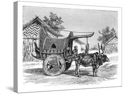 A Burmese Wagon, Burma (Myanma), 1895--Stretched Canvas Print