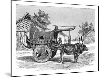 A Burmese Wagon, Burma (Myanma), 1895--Mounted Giclee Print