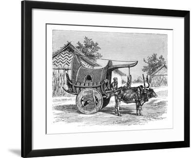 A Burmese Wagon, Burma (Myanma), 1895--Framed Giclee Print