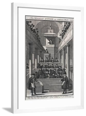 The Heretical Synod at Salters' Hall Chapel, London, 1720--Framed Giclee Print