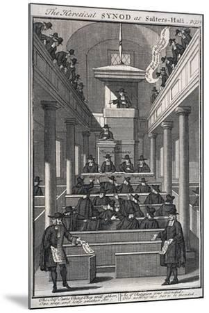 The Heretical Synod at Salters' Hall Chapel, London, 1720--Mounted Giclee Print