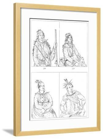 Creeks and Choctaws, 1841-Myers and Co-Framed Giclee Print