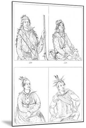 Creeks and Choctaws, 1841-Myers and Co-Mounted Giclee Print