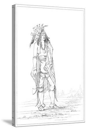 Iroquois Brave, 1841-Myers and Co-Stretched Canvas Print