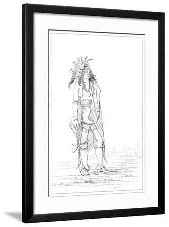 Iroquois Brave, 1841-Myers and Co-Framed Giclee Print