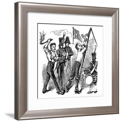 British Military Discipline, 19th Century--Framed Giclee Print