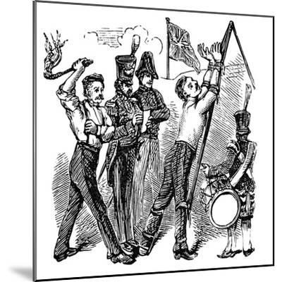 British Military Discipline, 19th Century--Mounted Giclee Print
