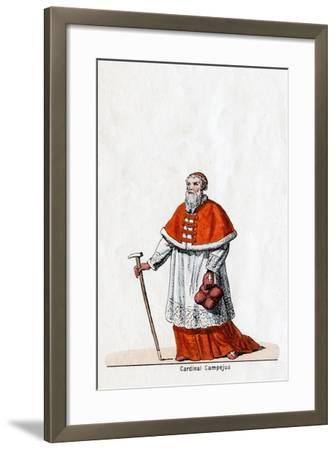 Cardinal Campeius, Costume Design for Shakespeare's Play, Henry VIII, 19th Century--Framed Giclee Print