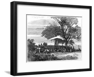 Reading the Ultimatum on the Banks of the Tugela, the Zulu War in the South, 1879--Framed Giclee Print