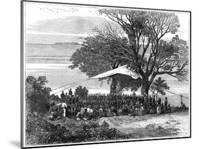 Reading the Ultimatum on the Banks of the Tugela, the Zulu War in the South, 1879--Mounted Giclee Print