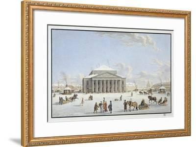 View of the Bolshoi Theatre in St Petersburg, Early 19th Century-Gabriel Ludwig Lory the Elder-Framed Giclee Print