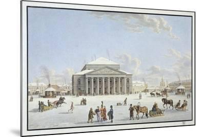 View of the Bolshoi Theatre in St Petersburg, Early 19th Century-Gabriel Ludwig Lory the Elder-Mounted Giclee Print