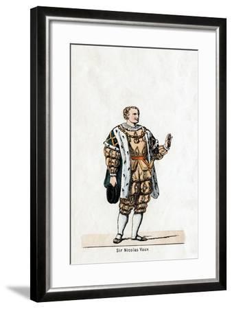 Sir Nicholas Vaux, Costume Design for Shakespeare's Play, Henry VIII, 19th Century--Framed Giclee Print