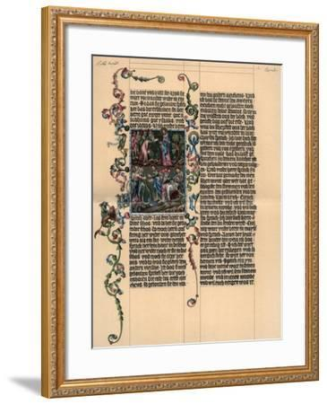 A Page from the Wenzel Bible, C1400--Framed Giclee Print