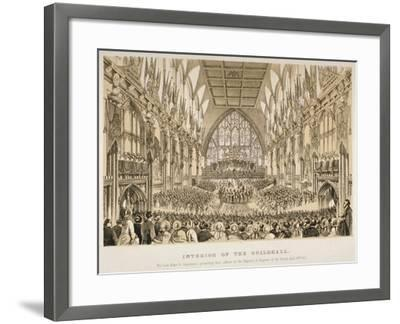 Interior of the Guildhall, City of London, 1855--Framed Giclee Print