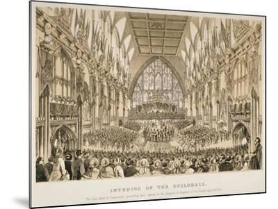 Interior of the Guildhall, City of London, 1855--Mounted Giclee Print