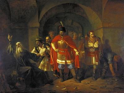 Patriarch Hermogenes Refusing to Bless the Poles, 1860-Pavel Petrovich Chistyakov-Framed Giclee Print