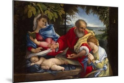 Rest on the Flight into Egypt with Saint Justina, 1529-Lorenzo Lotto-Mounted Giclee Print